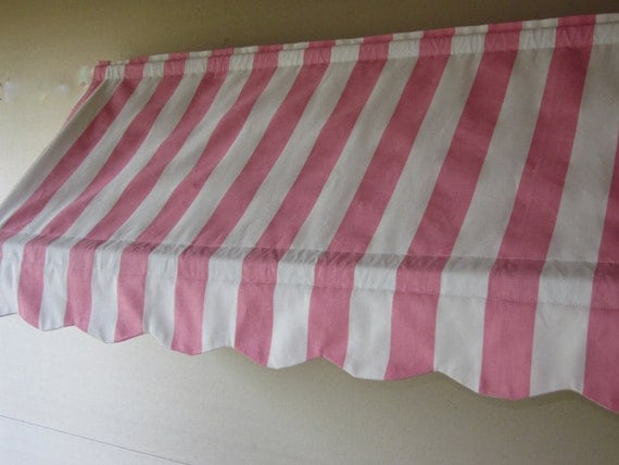 """14 1/2"""" High and  51 to 70"""" Wide Custom Made Indoor Awning (Choose from Available Fabrics or Provide Your Own Fabric)"""