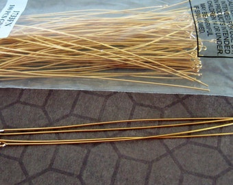 4 inch Gold Eyepins (100) Long Plated eye pins 21 Gauge Strong Findings Wholesale Findings Jewelry Jewellery Supplies CrazyCoolStuff