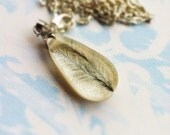 Black Feather Resin Pendant Resin Necklace Nature Inspired Necklace Resin Jewelry