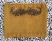 Mustard mustache moustache snood scarf for men