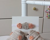 Shabby Chic Matching Loafer & Rolled Fabric Headband Combo