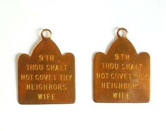 2 9th Commandment Charms - 21-24-5