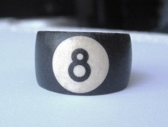 8 Ball (Pool Ball) -- wood ring