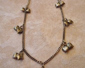 Cute hearts and bell sterling bracelet or anklet