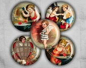 Valentine Circles 1 inch - Digital Collage Sheet - Best for bottle caps and jewelry pendants - ANGELS AND CUPIDS