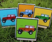 Toyota Land Cruiser Vintage Car Coasters - Set of 4