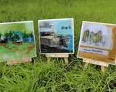 Handmade Coasters - Original Art - Group 3 - Create a Set of 4