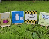 Transportation Coasters - Set of 4