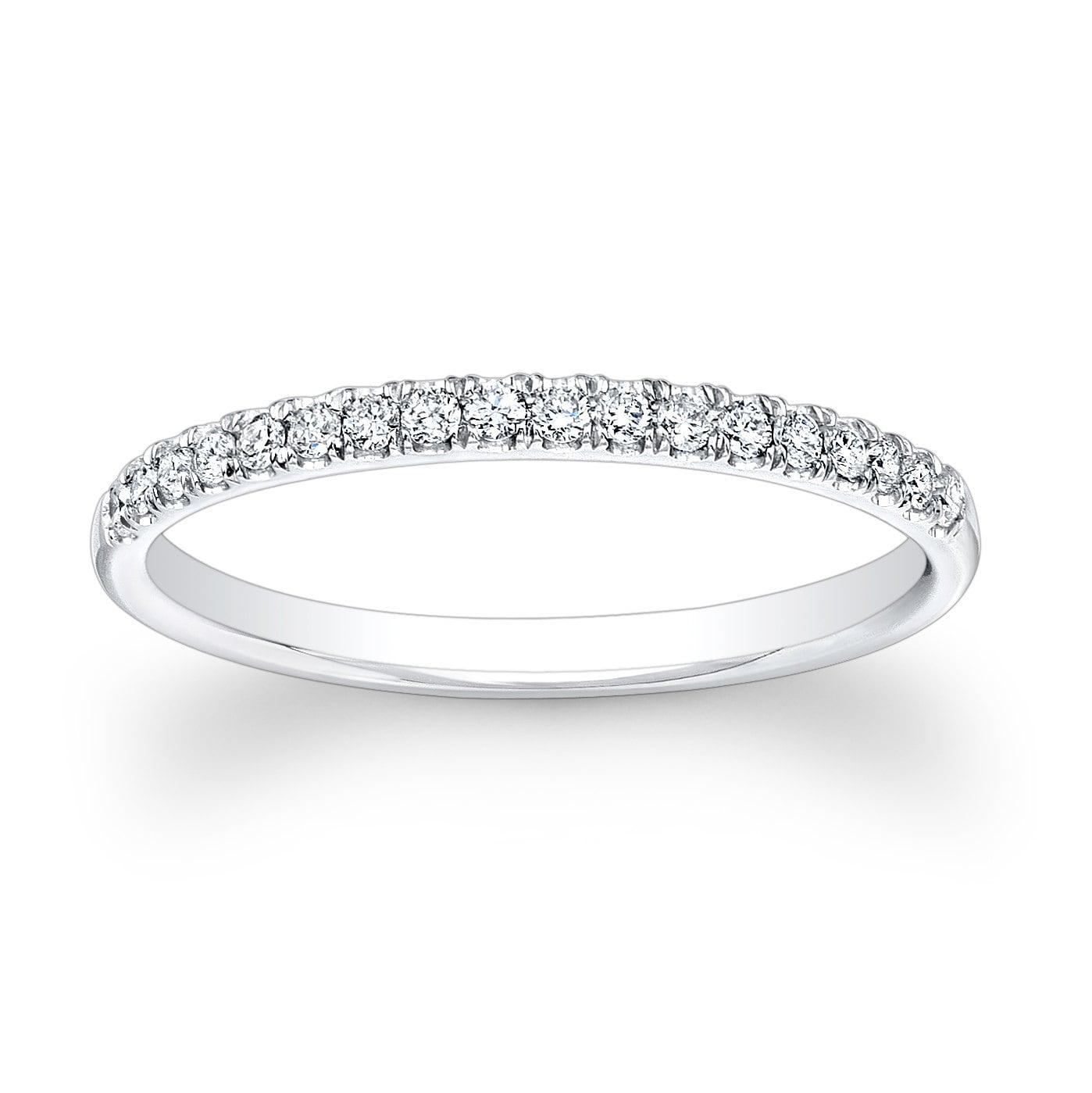 La s 18kt white gold diamond wedding band 0 20 ctw G VS2