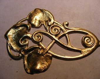 Art nouveau brass motif 6 pieces