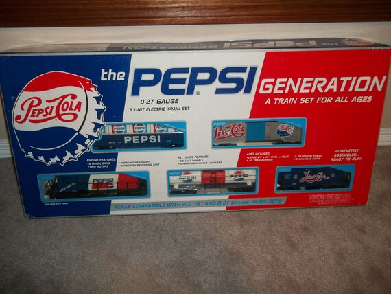Pepsi Cola 0 27 Gauge 5 Unit Electric Train Set Never Run New