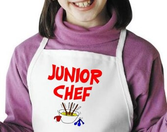 Junior Chef Aprons For Kids And Children Cooking Apron