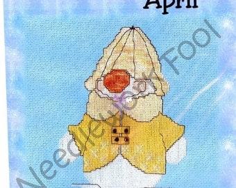 SALE CM Designs Snowball of the Month April Cross Stitch Pattern