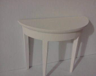 dollhouse sidetable hall table painted in cream  1 12th scale miniature dolls house furnitre