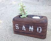 Reclaimed wood votive 'SAND'