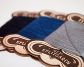 3 Cards Of Dark Blue, Blue And Silver Grey Vintage Thread - TheTwoLabsVintage