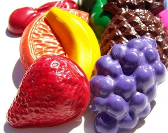 Recycled Fruit Crayons - Set of 9