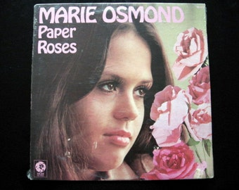SALE 1973 Marie Osmond Paper Roses Record