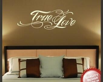 True Love tattoo style vinyl wall sticker decal