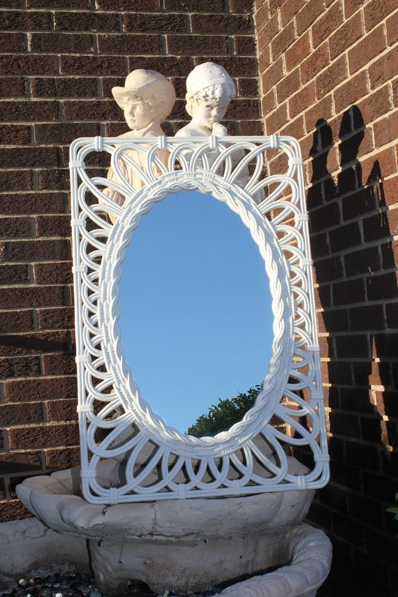Large Vintage Shabby Cottage Chic Mirror