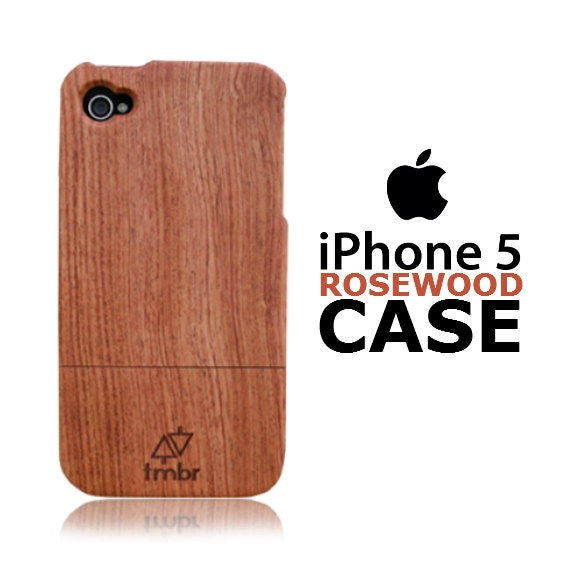 Iphone 5 Case Wood Pre-Order Handmade Quality Cover Rosewood FREE SHIPPING in the US