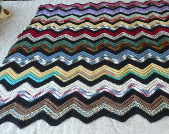 Santa Fe Sunset Crocheted Lap Blanket