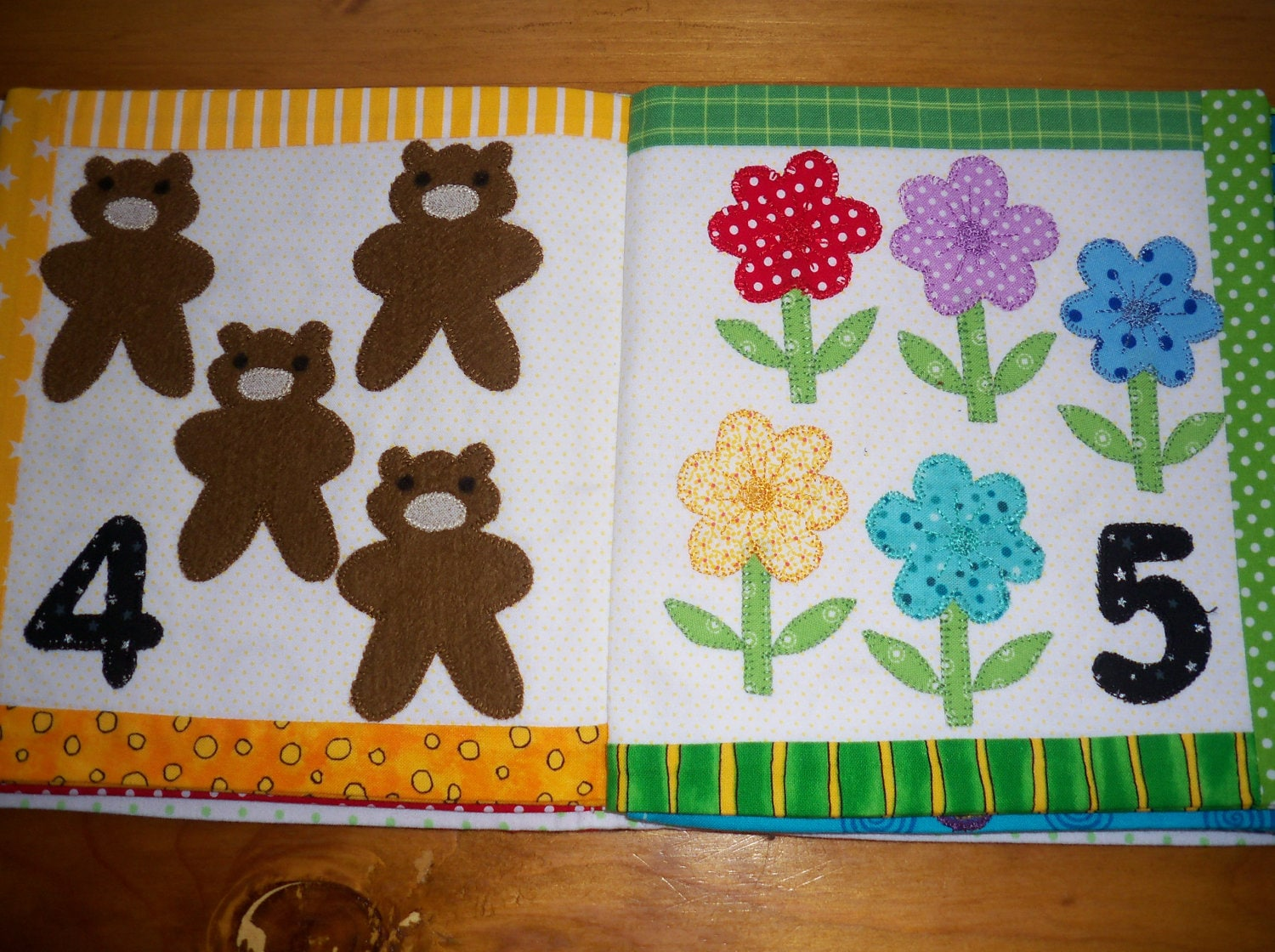 Cloth book pattern quiet book pattern kids book 123 for Kids pattern fabric