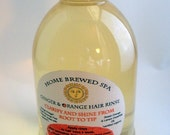 Organic Hair Rinse, Ginger and Orange Tincture, Clarify and Tone, 8 fl oz