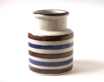 vintage vase, stoneware, Japan, stripes