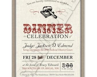 Printable Dinner Party Invitation
