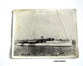 Vintage photo, black and white, Ditchburn boat, twin diesel, sailing boat, 1920