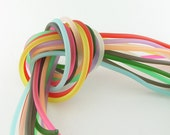 Rubber cord 4mm solid ,11 assorted luminous colors, 22 feet