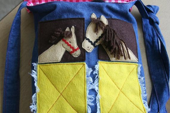 Horses in the Barn, tote bag