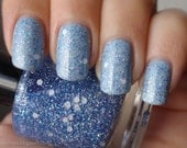 Nail Polish: Wonderland - Periwinkle Iridescent and White Glitters