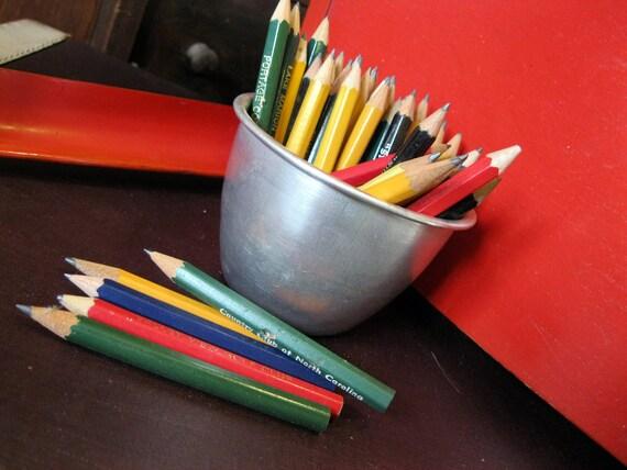 Mini Golf Pencils: Set of 45 red yellow blue green black