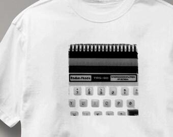 Radio Shack Computer T Shirt Vintage Logo TRS-80 Tee Shirt Mens Womens Ladies Youth Kids