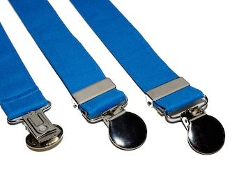 Suspenders - Blue Adjustable Suspenders