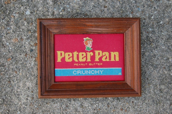 Items similar to Vintage Peter Pan Peanut Butter Logo ...