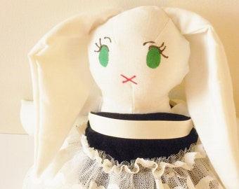 White Bunny Doll- Heirloom Doll