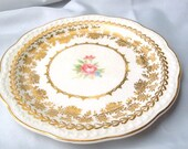 "Stetson ""American Beauty"" 22 kt gold leaf bread and butter plate 6"""