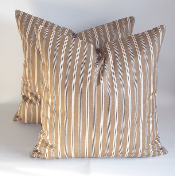 SET OF 2-Striped pillows-Decorative pillow-Throw pillow