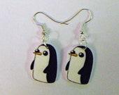 Adventure Time Gunter Earrings- Adventure Time earrings- Penguin earrings