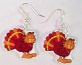 Garfield Thanksgiving Earrings