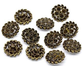 8 - Antique Bronze Shank Design No.3  Buttons 23 mm  - Pack of 8 MB04