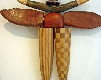 Wooden winged figure (hanging)