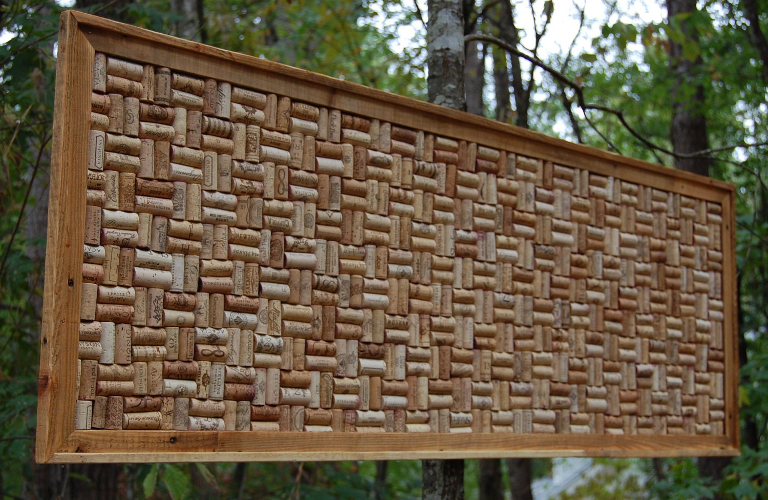large wine cork board corkboard framed cork board