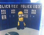 TARDIS Dr Who style police box tissue box cover