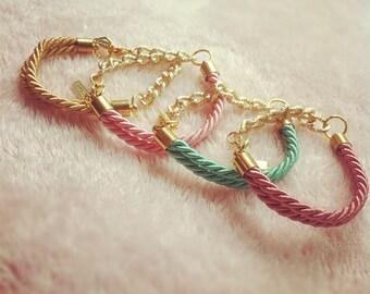silk & chain bracelet
