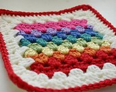 Granny Stripe Square Crochet Pattern