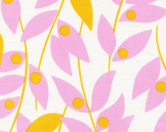 Lindy Leaf in Tangerine - Heather Bailey Fabric